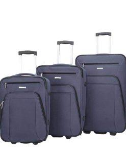 Decent Basic Line 3-delige Kofferset d.blauw