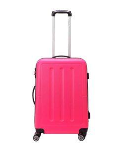 Decent Neon-Fix Trolley 66 pink Harde Koffer