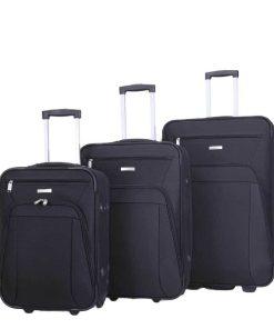 Decent Basic Line 3-delige Kofferset zwart