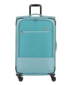 Travelite Arona 4 Wiel Trolley L Expandable aqua Zachte koffer
