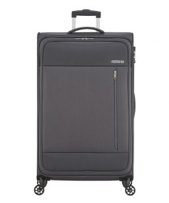 American Tourister Heat Wave Spinner 80 charcoal grey Zachte koffer