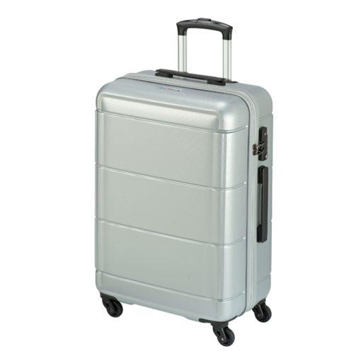 Princess Traveller Macau 4 Wiel Trolley L silver Harde Koffer