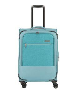 Travelite Arona 4 Wiel Trolley M Expandable aqua Zachte koffer