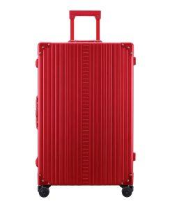 Aleon Aluminium Macro Traveler red Harde Koffer