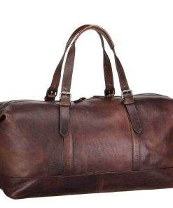 Leonhard Heyden Roma Travel Bag dark brown Weekendtas