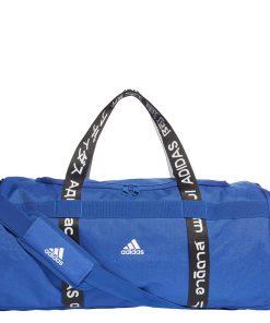 Adidas Training Duffel M royal blue / black / white Weekendtas